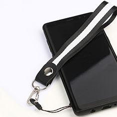 Cordino da Polso Laccetto da Polso Cinghia Cordino Mano K01 per Samsung Galaxy Note 9 Nero
