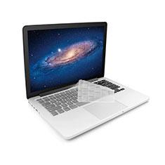 Cover Coperchio Tastiera Silicone Trasparente Ultra Sottile Morbida per Apple MacBook 12 pollici Bianco