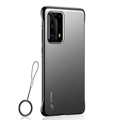 Cover Crystal Trasparente Rigida Cover C01 per Huawei P40 Pro+ Plus Nero