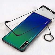 Cover Crystal Trasparente Rigida Cover H01 per Huawei Enjoy 10 Nero