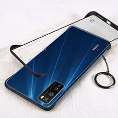Cover Crystal Trasparente Rigida Cover H01 per Huawei Enjoy 20 Pro 5G Nero
