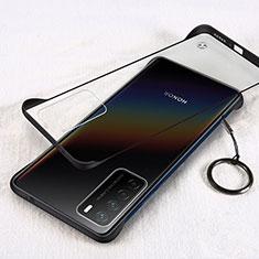 Cover Crystal Trasparente Rigida Cover H01 per Huawei Honor Play4 5G Nero