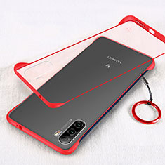 Cover Crystal Trasparente Rigida Cover H01 per Huawei Mate 40 Lite 5G Rosso