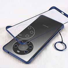 Cover Crystal Trasparente Rigida Cover H01 per Huawei Mate 40 Pro+ Plus Blu