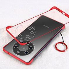 Cover Crystal Trasparente Rigida Cover H01 per Huawei Mate 40 Pro+ Plus Rosso
