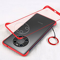 Cover Crystal Trasparente Rigida Cover H01 per Huawei Mate 40 Pro Rosso