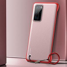 Cover Crystal Trasparente Rigida Cover H01 per Huawei P40 Pro Rosso