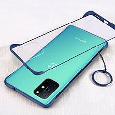 Cover Crystal Trasparente Rigida Cover H01 per OnePlus 8T 5G Blu