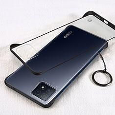 Cover Crystal Trasparente Rigida Cover H01 per Oppo A72 5G Nero
