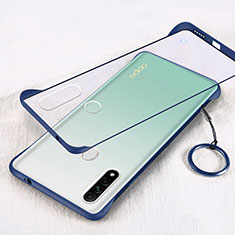 Cover Crystal Trasparente Rigida Cover H01 per Oppo A8 Blu
