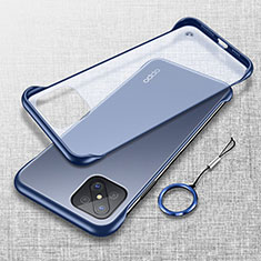 Cover Crystal Trasparente Rigida Cover H01 per Oppo A92s 5G Blu
