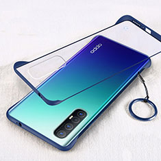 Cover Crystal Trasparente Rigida Cover H01 per Oppo Find X2 Neo Blu