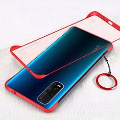Cover Crystal Trasparente Rigida Cover H01 per Oppo Find X2 Rosso