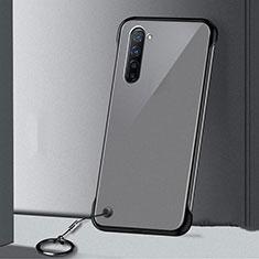 Cover Crystal Trasparente Rigida Cover H01 per Oppo K7 5G Nero
