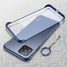 Cover Crystal Trasparente Rigida Cover H01 per Oppo Reno4 Z 5G Blu