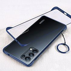 Cover Crystal Trasparente Rigida Cover H01 per Oppo Reno5 Pro 5G Blu
