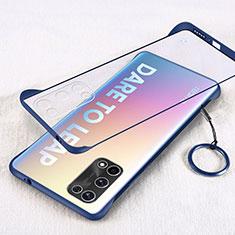 Cover Crystal Trasparente Rigida Cover H01 per Realme X7 5G Blu