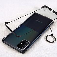 Cover Crystal Trasparente Rigida Cover H01 per Samsung Galaxy A71 5G Nero