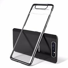 Cover Crystal Trasparente Rigida Cover H01 per Samsung Galaxy A90 4G Nero