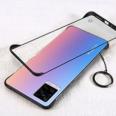 Cover Crystal Trasparente Rigida Cover H01 per Vivo V20 Pro 5G Nero