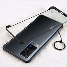 Cover Crystal Trasparente Rigida Cover H01 per Vivo X60 Pro 5G Nero