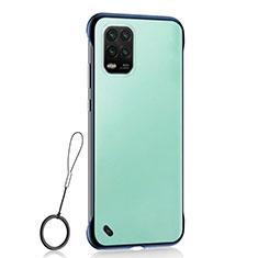 Cover Crystal Trasparente Rigida Cover H01 per Xiaomi Mi 10 Lite Blu