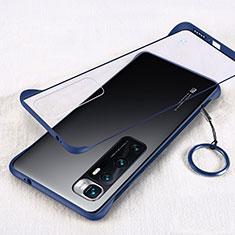 Cover Crystal Trasparente Rigida Cover H01 per Xiaomi Mi 10 Ultra Blu
