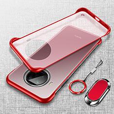 Cover Crystal Trasparente Rigida Cover H01 per Xiaomi Mi 10T Lite 5G Rosso