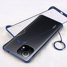 Cover Crystal Trasparente Rigida Cover H01 per Xiaomi Mi 11 5G Blu