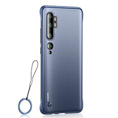 Cover Crystal Trasparente Rigida Cover H01 per Xiaomi Mi Note 10 Blu