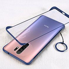 Cover Crystal Trasparente Rigida Cover H01 per Xiaomi Redmi 9 Blu
