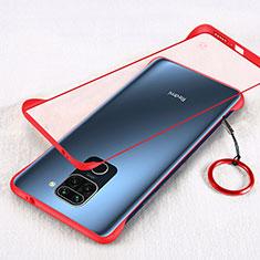 Cover Crystal Trasparente Rigida Cover H01 per Xiaomi Redmi Note 9 Rosso