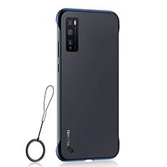Cover Crystal Trasparente Rigida Cover H02 per Huawei Enjoy 20 Pro 5G Blu