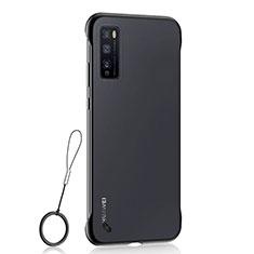 Cover Crystal Trasparente Rigida Cover H02 per Huawei Enjoy 20 Pro 5G Nero