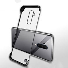 Cover Crystal Trasparente Rigida Cover H02 per OnePlus 7T Pro Nero