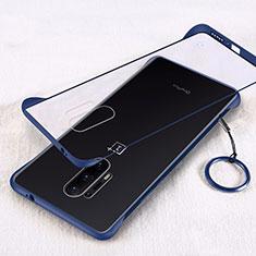 Cover Crystal Trasparente Rigida Cover H02 per OnePlus 8 Pro Blu