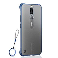 Cover Crystal Trasparente Rigida Cover H03 per Xiaomi Redmi 8 Blu
