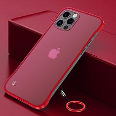 Cover Crystal Trasparente Rigida Cover N01 per Apple iPhone 12 Pro Rosso