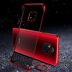 Cover Crystal Trasparente Rigida Cover S01 per Huawei Mate 20 Pro Rosso