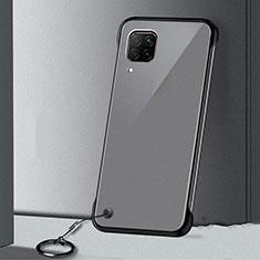 Cover Crystal Trasparente Rigida Cover S01 per Huawei P40 Lite Nero