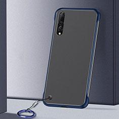 Cover Crystal Trasparente Rigida Cover S01 per Samsung Galaxy A70S Blu