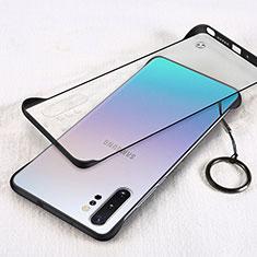 Cover Crystal Trasparente Rigida Cover S01 per Samsung Galaxy Note 10 Plus 5G Nero