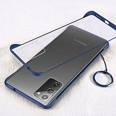 Cover Crystal Trasparente Rigida Cover S01 per Samsung Galaxy Note 20 5G Blu