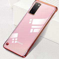 Cover Crystal Trasparente Rigida Cover S01 per Samsung Galaxy S20 5G Rosso