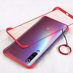 Cover Crystal Trasparente Rigida Cover S01 per Xiaomi Mi A3 Rosso