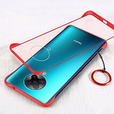 Cover Crystal Trasparente Rigida Cover S01 per Xiaomi Redmi K30 Pro 5G Rosso