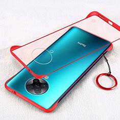 Cover Crystal Trasparente Rigida Cover S01 per Xiaomi Redmi K30 Pro Zoom Rosso