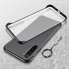 Cover Crystal Trasparente Rigida Cover S01 per Xiaomi Redmi Note 8T Nero