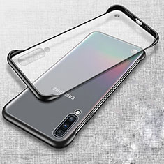 Cover Crystal Trasparente Rigida Cover S02 per Samsung Galaxy A70 Nero