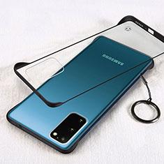 Cover Crystal Trasparente Rigida Cover S02 per Samsung Galaxy S20 5G Nero